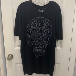 Black Sugar Skull T-shirt cotton goth rock
